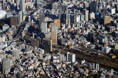飯田橋周辺の空撮