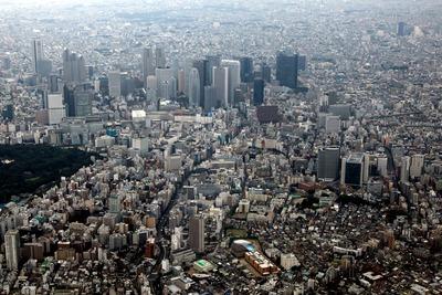 新宿の空撮