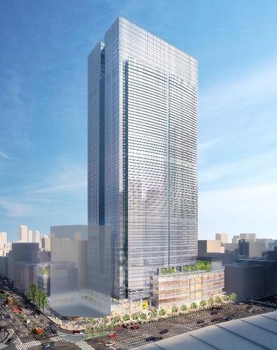 八重洲二丁目北地区第一種市街地再開発事業 完成予想図