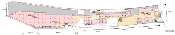 (仮称)新宿駅西口地区開発計画 3階平面図