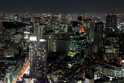 六本木ヒルズから見た六本木・赤坂・虎ノ門方面の夜景