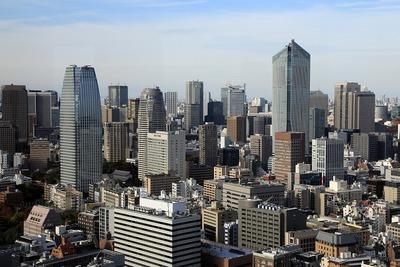 東京ガーデンテラス紀尾井町方面の超高層ビル群