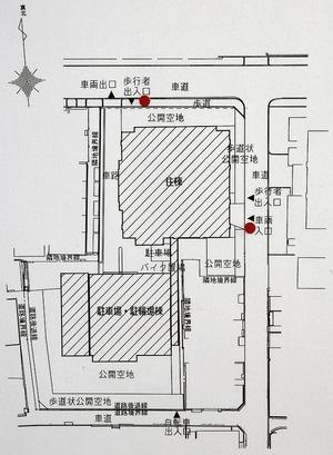 (仮称)グランドメゾン内久宝寺町2丁目タワー計画 配置図