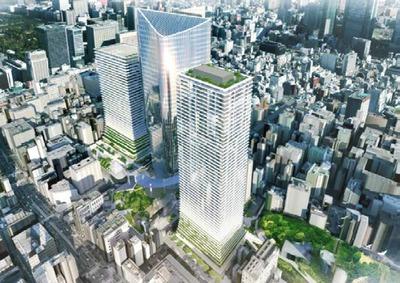(仮称)虎ノ門ヒルズ レジデンシャルタワーの完成予想図