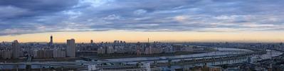 船堀駅前トキタワーから北関東の山々