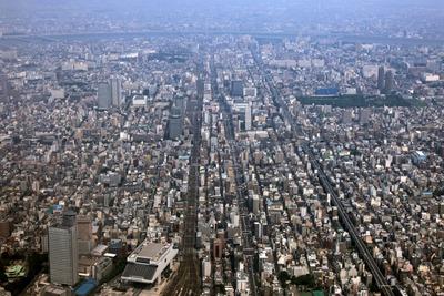 両国〜錦糸町の空撮