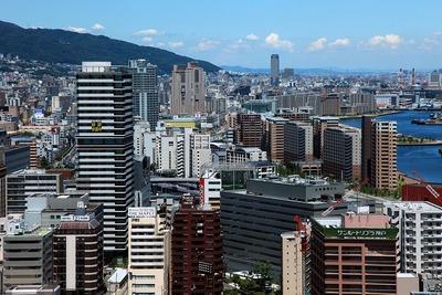 神戸市役所から見た神戸市街