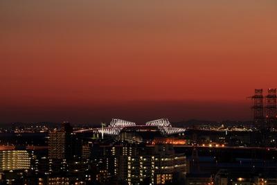 東京ゲートブリッジ方面の夕景