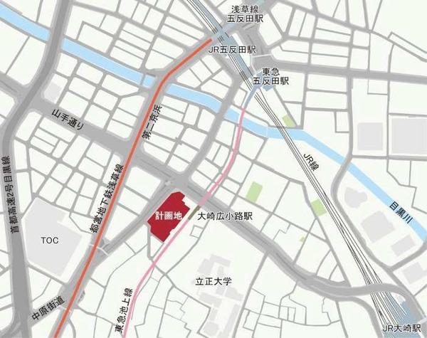 五反田計画(仮称) 位置図