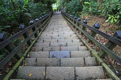 像山の石階段