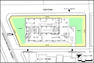 (仮称)芝浦二丁目計画 1階平面図