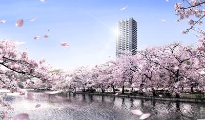 ブリリアタワー上野池之端の完成予想図