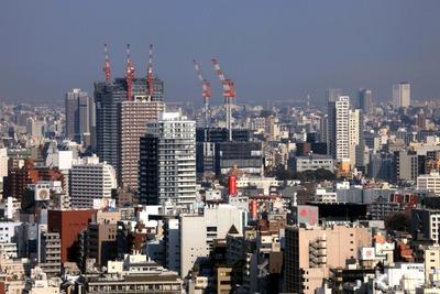 赤プリ36階から見た東新宿方面の眺め
