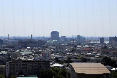 日本海タワーから見た新潟県庁方面