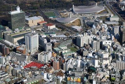 (仮称)渋谷区宇田川町計画の計画地の空撮
