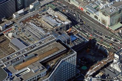 新宿駅南口地区基盤整備事業の空撮