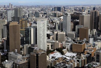 東京タワーから見た虎ノ門方面