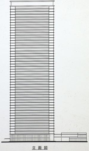 グランドメゾン新梅田タワー THE CLUB RESIDENCE 立面図