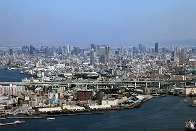 コスモタワーから見た大阪超高層ビル群