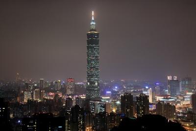 像山から見た台北101方面の夜景