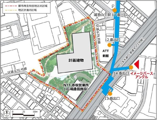 (仮称)赤坂二丁目プロジェクト 配置図