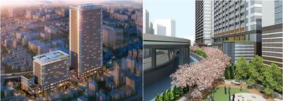白金一丁目東部北地区第一種市街地再開発事業 完成予想図