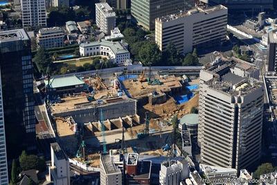 ホテルオークラ東京 新本館 建設地の空撮