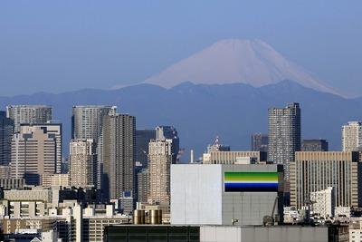 勝どき方面と富士山