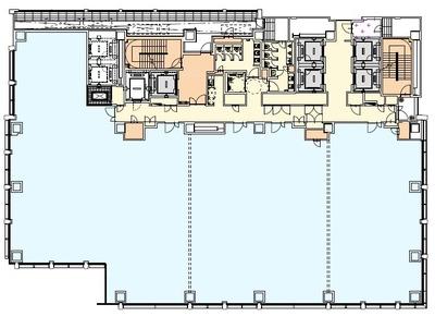 (仮称)青山北二丁目計画 オフィス基準階イメージ