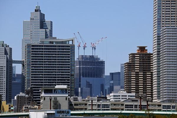 豊洲から見た東京ミッドタウン八重洲
