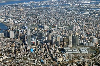 空撮 川崎超高層ビル群