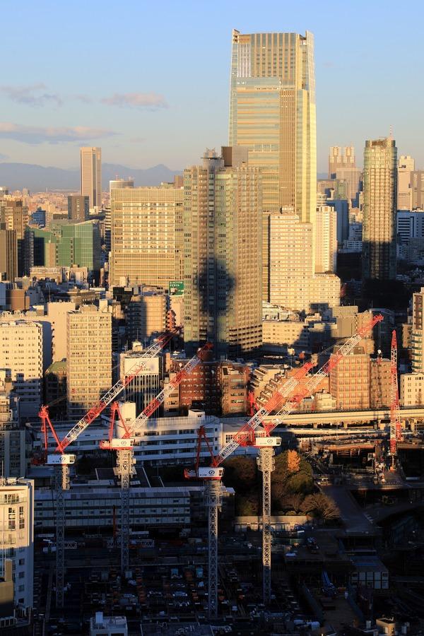 東京タワーから見た東京タワーの影