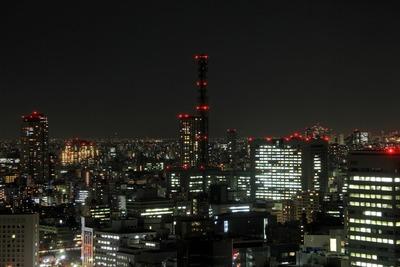 赤プリ36階から防衛省方面の夜景