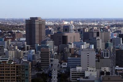 千葉ポートタワーから見た千葉駅方面
