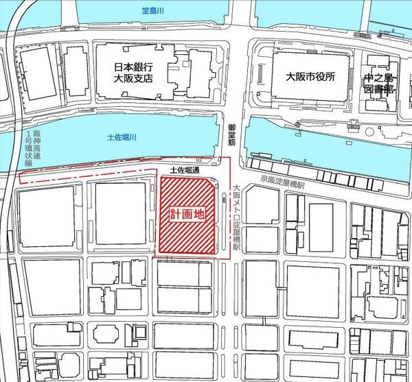 淀屋橋駅西地区第一種市街地再開発事業