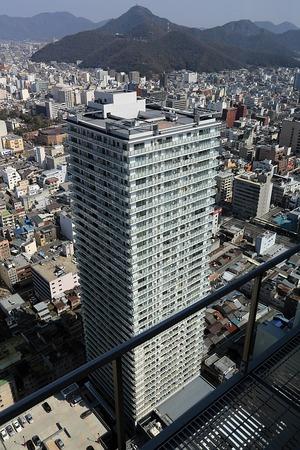 岐阜シティ・タワー43から見た岐阜スカイウイング37
