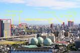 墨田区方面の眺め ビル名付き