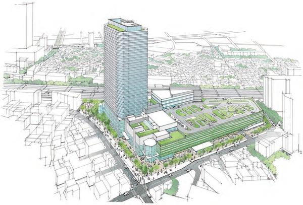 東金町一丁目西地区市街地再開発事業 完成イメージパース