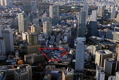 赤坂一丁目地区第一種市街地再開発事業の空撮