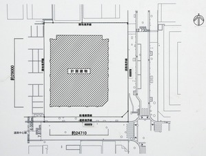 (仮称)中央区瓦町3丁目計画 新築工事 配置図