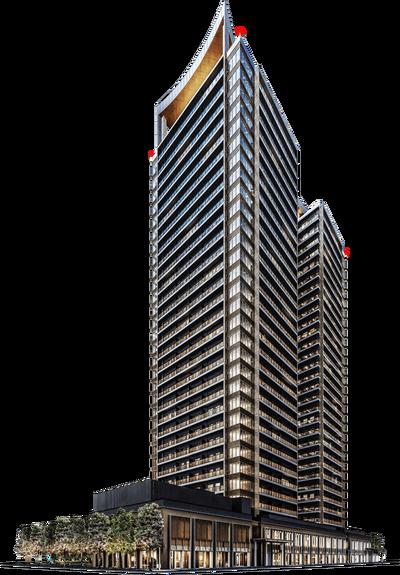 ミッドタワーグランド 外観完成予想CG