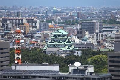 名古屋テレビ塔から名古屋城