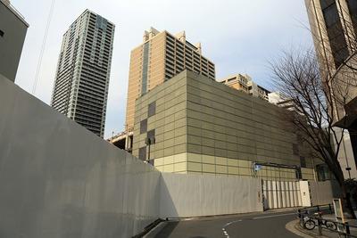 赤坂ツインタワーの解体工事