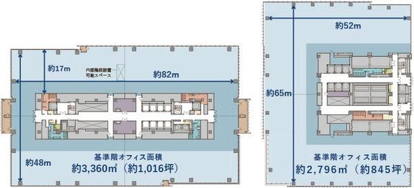 (仮称)みなとみらい21中央地区53街区開発事業 オフィス基準階