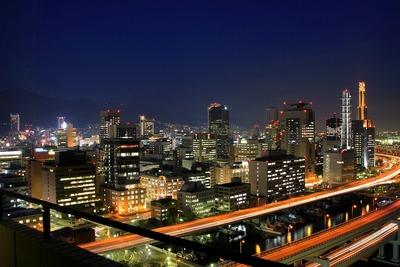 ホテルオークラ神戸から見た三宮方面の夜景
