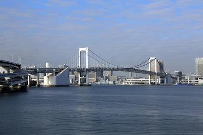 富士見橋から見たレインボーブリッジ