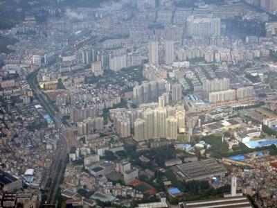 空撮 中国広州市