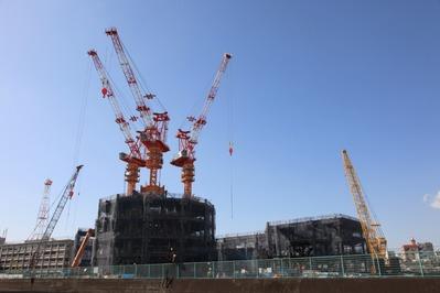 東京スカイツリーの建設現場