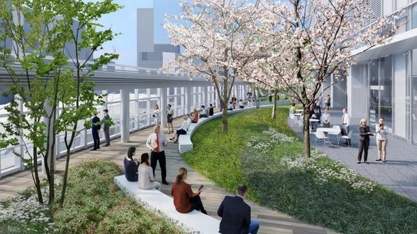 八重洲二丁目北地区第一種市街地再開発事業 5階テラス イメージパース