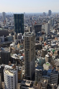 東京タワーからPARK HABIO 麻布タワー